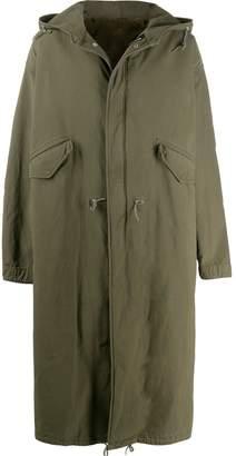 Raf Simons oversized photo print parka coat