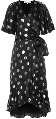 Diane von Furstenberg Sareth polka-dot silk-blend dress