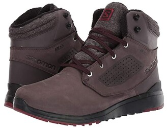 Salomon Utility Winter CS WP (Shale/Black/Syrah) Men's Shoes
