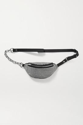Alexander Wang Attica Mini Crystal-embellished Leather Belt Bag - Black