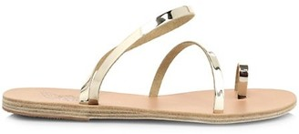 Ancient Greek Sandals Apli Metallic Leather Toe-Loop Sandals