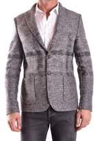Daniele Alessandrini Men's Grey Polyester Blazer.
