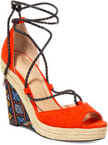 Charles by Charles David Boston Lace-Up Platform Wedge Sandals Women's Shoes
