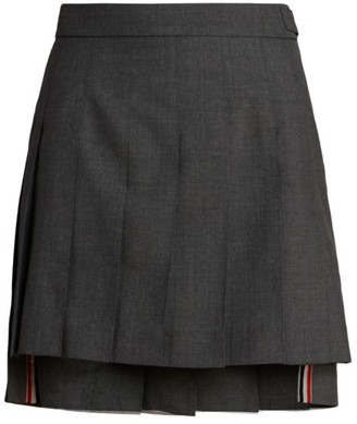 Thom Browne Dropped Back Pleated Mini Skirt