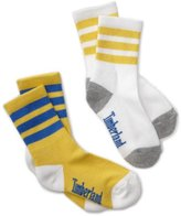 Timberland Little Boys' Crew Sock with Stripe 2 Pair Pack
