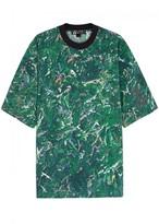 Y-3 Green Printed Cotton T-shirt