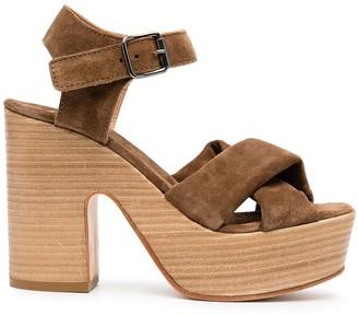 Moma Cross Strap Platform Sandals