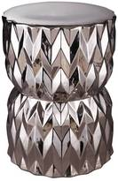 Facet Stool Silver