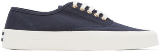 MAISON KITSUNÉ Navy Canvas Laced Sneakers