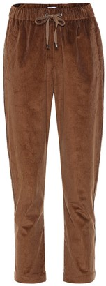 Brunello Cucinelli Cropped corduroy-blend pants