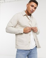 Brave Soul doron worker jacket with pockets in stone