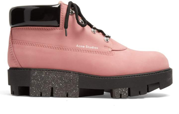 Acne Studios Tinne track-sole nubuck ankle boots