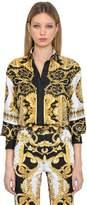 Versace Baroque Print Silk Twill Shirt
