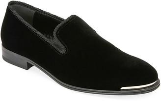 Alexander McQueen Men's Calf Suede Slip-On Dress Shoes