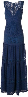 Martha Medeiros Yana lace tiered dress