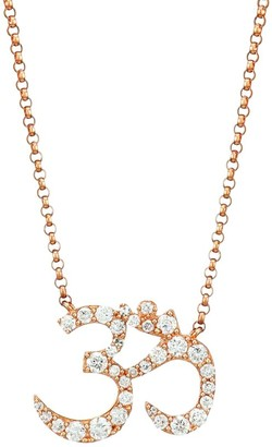 Nina Gilin 14K Rose Gold & Diamond Om Pendant Necklace
