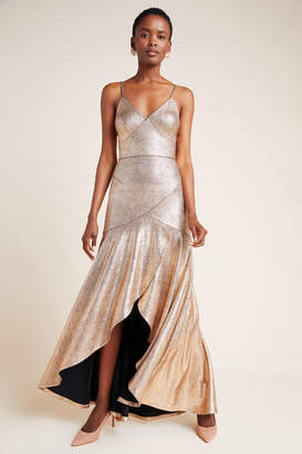 Hutch Vicky Metallic Maxi Dress