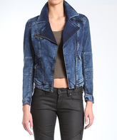 Mavi Jeans Janet Dark Vintage Sporty Denim Jacket - Women