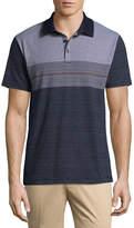 Claiborne Short Sleeve Stripe Jersey Polo Shirt