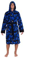 Robe Factory Doctor Who Tardis And Gears Repeat Pattern Fleece Robe