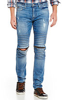 GUESS Slim Tapered Fit Moto Destructed Jeans