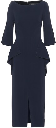 Roland Mouret Crane stretch crepe midi dress
