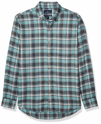 Buttoned Down Tailored Fit Supima Cotton Plaid Flannel Sport Shirt Button