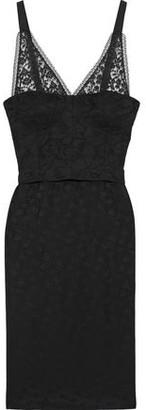 Stella McCartney Tess Layered Cotton-blend Lace And Satin-jacquard Dress