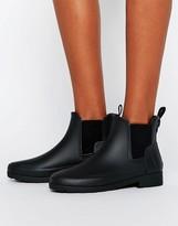 Hunter Refined Black Matte Wellington Chelsea Boots