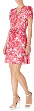 INC International Concepts Inc Belted Floral-Print Mini Dress, Created for Macy's