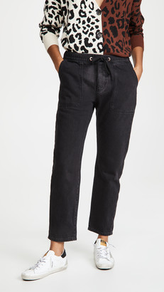 One Teaspoon Worn Shabbies Drawstring Boyfriend Jeans