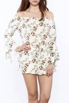 Cotton Candy Off-Shoulder Floral Romper