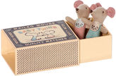 Maileg North America Twin Baby Mice w/ Box, Tan/Multi