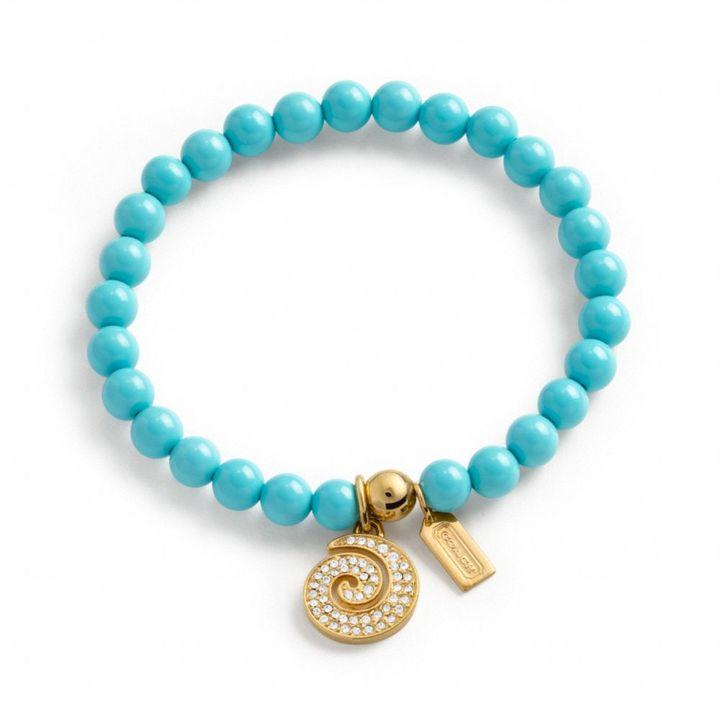 Coach Pave Swirl Mini Bead Bracelet