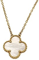 Van Cleef & Arpels 18K Yellow Gold Mother Pearl Alhambra Pendant Necklace