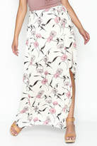y&i clothing boutique Spaced Floral Maxi Skirt