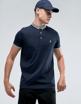 Brave Soul Knitted Collar Logo Polo Shirt