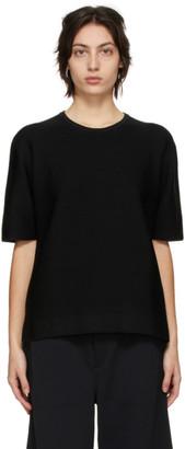 CFCL Black Garter Half Sleeve T-Shirt