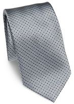Brioni Diamond Patterned Silk Tie