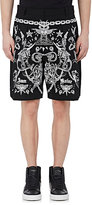Givenchy Men's Tattoo-Graphic Cotton Twill Shorts