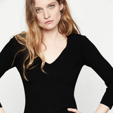 Maje Ribbed knit fitted jumper