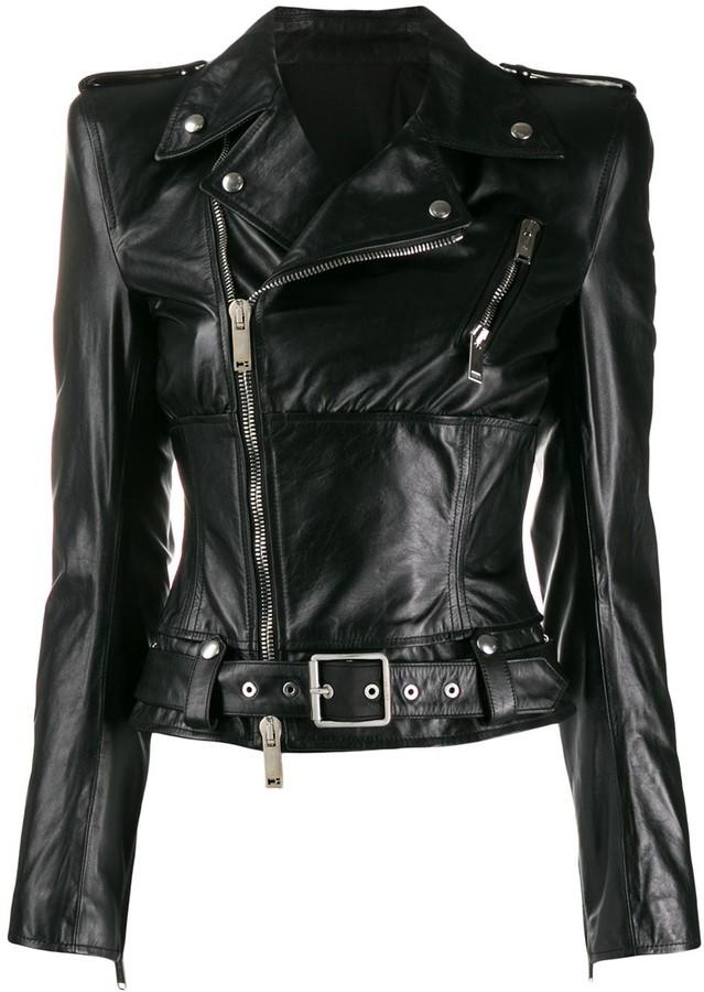 2d29ec8e2 asymmetric leather jacket