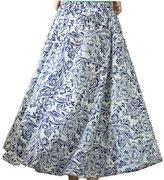 Astage Women`s Bohemia Skirt Scindapsus Aureus Floral-Print Maxi Skirt