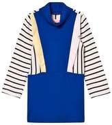 BANG BANG Copenhagen Blue Stripe Collared Paris Knit Dress