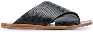 Brunello Cucinelli Snake Embossed Sandals