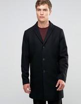 Jack and Jones Overcoat in Wool Mix