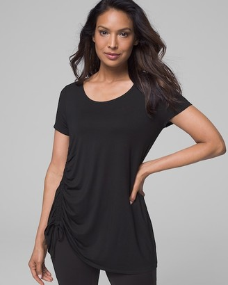 Soma Intimates Side Ruched Tunic Tee Black