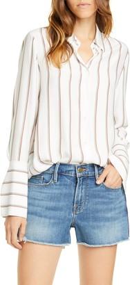 Frame Stripe Silk PJ Blouse