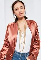 Missguided Gold Layered Chain Necklace