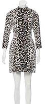 A.L.C. Silk Leopard Print Dress